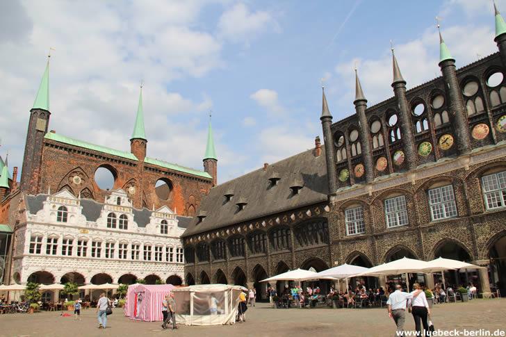 Lübecker Rathaus am Marktplatz